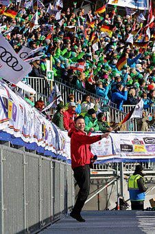 Event, Sport Event, Ski Race, Fans, Flags, Crowd, Cheer