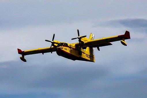 Seaplane, Fire Fighting Aircraft, Fire, Aircraft
