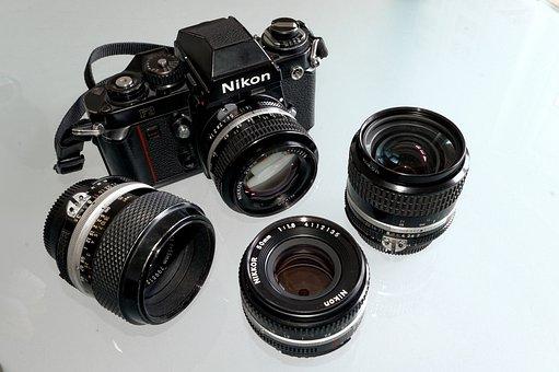 Nikon, F3, Analog, Film, Camera, Lens, Retro