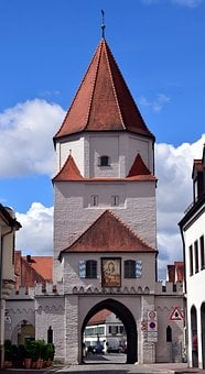 City Gate, Old Town, Historically, Middle Ages, Tower