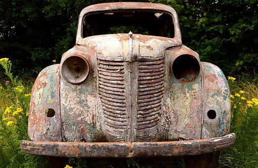 Auto, Pkw, Scrap, Old Car, Oldtimer, Old, Vehicle