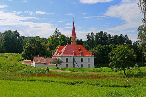 Priory Palace, Gatchina, Russia, Stroll, Nature