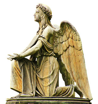 Angel, Stone Angel, Grave, Peaceful, Religion