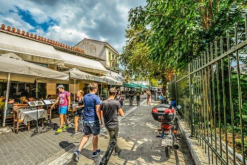 Athens, Plaka, Monastraki, Tourism, Cafe, Restaurant