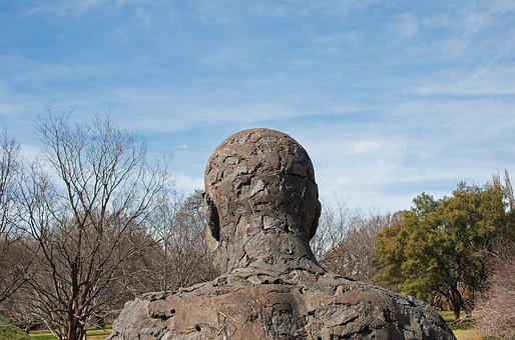 Sculpture, Figure, Statue, Male, Art, Rough, Head, Back