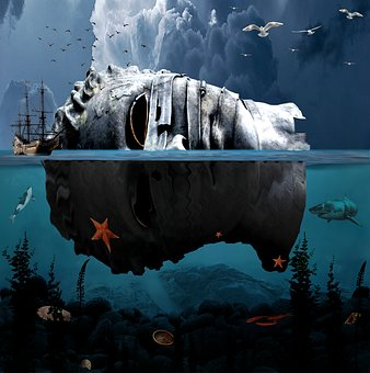 Underwater, Statues, Ships, Treasure Hunt, Expeditions