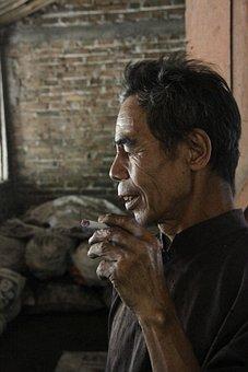 Man, Old, Smoking, People, Cigarette, Smoke, Portrait