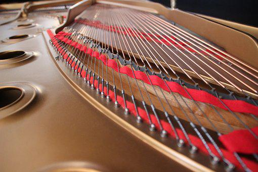 Wing, Strings, Concert Grand Piano, Piano, Music
