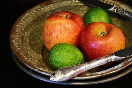 Apple, Lime, Fruits, Fruit, Summer, Eat, Still Life