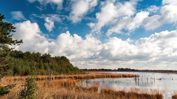 Teufelsmoor, North, Germany, Water, Nature