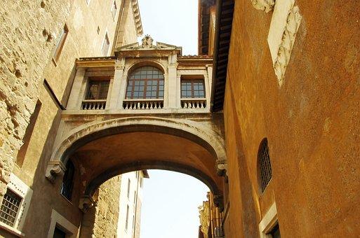 Italy, Rome, Via Del Campiglio, Bridge, Architecture