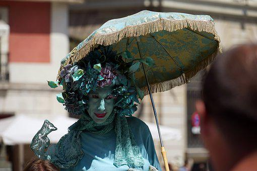Artists, Street Artists, Art, Dressed Up, Pantomime