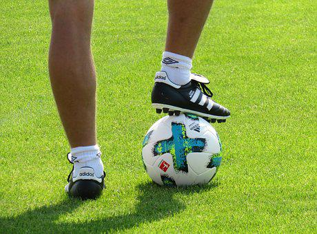Sport, Leisure, Football, Ball, Rush, Grass, Training