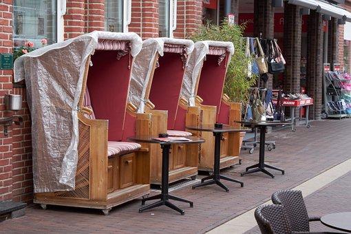 Beach Chair, Basket, Cafe, Bistro, Bar, Table, Chair