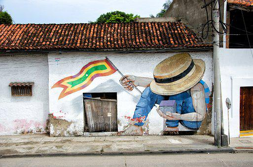 City, Colombia, Caribbean, Cartagena, Graffiti, Home