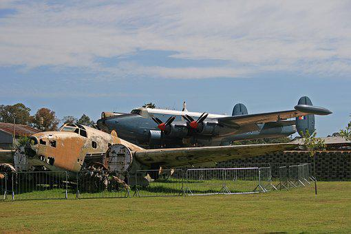 Ventura, Bomber, Wreck, Display, Airplane, Aircraft