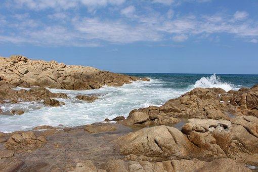 Sardinia, East Coast, Mediterranean, Blue, Rock