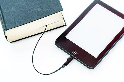 Ebook, Book, Charging Cable, Electronic, Library