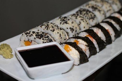 Oriental Cuisine, Sushi, Makizushi, Futomaki