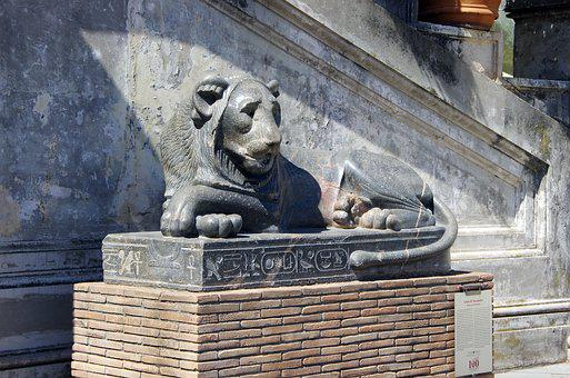 Italy, Rome, Vatican, Lion, Nectanebo, Antique