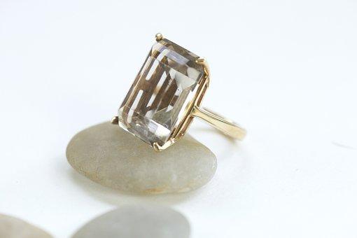 Quartz, Ring, Gold, Jewellery, Jewelry, Golden, Stone