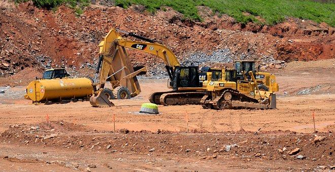 Construction Site, Georgia, Usa, Landscape, Dirt
