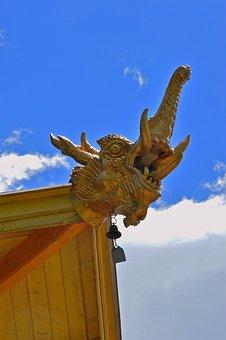 Buddha, Stupa, Religion, Buddhism, Gold, Statue, Light