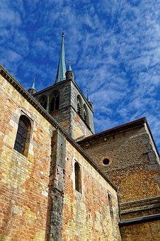 Church, Payerne, Romanesque, Switzerland, Abbey, Old