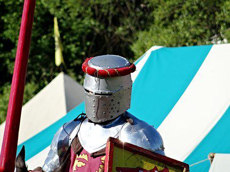 Knight, Helm, Lance, Armor, Middle Ages, Ritterruestung