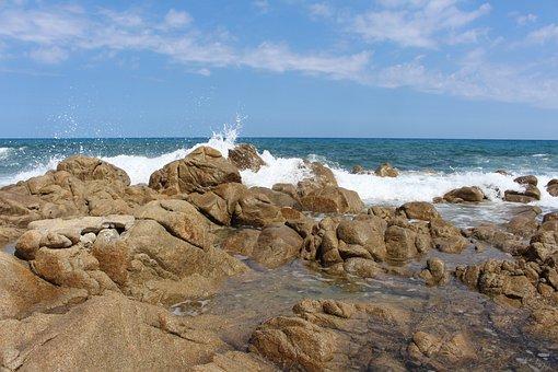 Sardinia, East Coast, Mediterranean, Turquoise, Rock