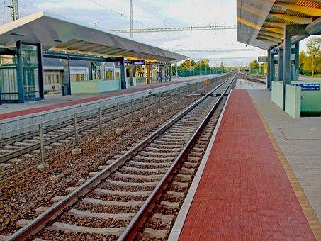 Tracks, Train Station, Train, Waiting Room