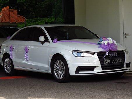 Wedding Car, White Car, Car, Decorating, New Car