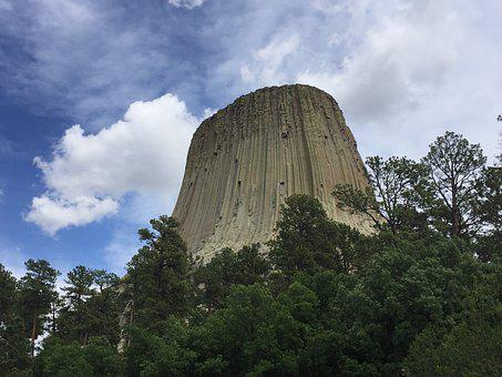 Devils Tower, Wyoming, Tower, Devils, Usa, Nature