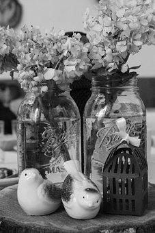 Birds, Flowers, Ceramic, Summer, Ceremony, Catholic