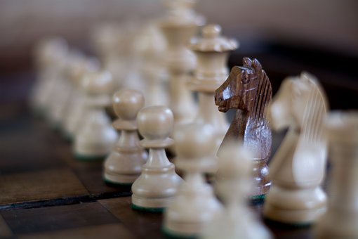 Chess, Horse, Game, Strategy, Competition, White, Black