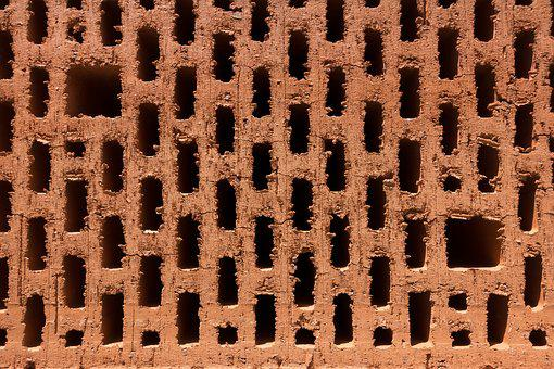 Brick, Clay, Burned, House, Craft, Construction