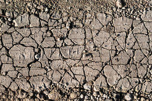 Land, Ground, Crack, Brown, Dry, Clay, Road, Dirt