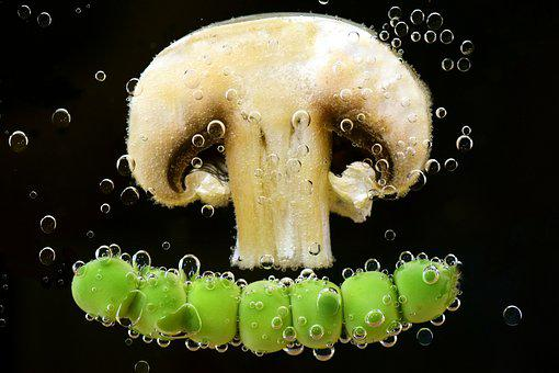 Mushroom, Peas, Vegetables, Nutrition, Eat, Vitamins