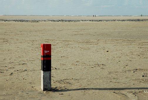 Beach, North Sea, Netherlands, Empty Beach