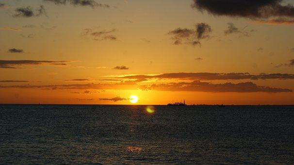 Oahu, Hawaii, Sunset, Travels, Beaches, Vacation