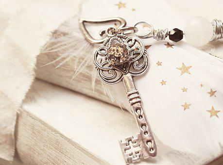 Key, Heart, Feather, Star, Pearl, Love, Symbol, Romance