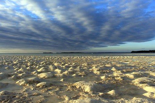 Beach, Kei Islands, The Sky, Cloud, White Sand, The Sea