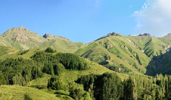 Kaçkars, Landscape, Green, Mountain, Blue, Mountains