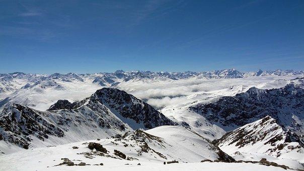 Mountain, Switzerland, Alps, Day, Davos, Landscape