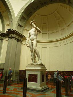 Florence, Gallery, Academy, Italy, Naked, Sculpture