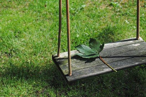 Leaf, Swing, Garden, Sad, Nature, Park, Tree, Season