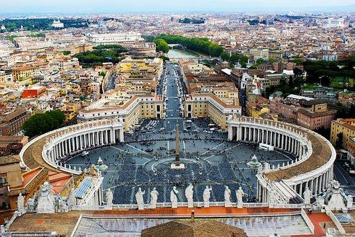 Rome, Vatican, Piazza, Square, Basilica, Peter, City