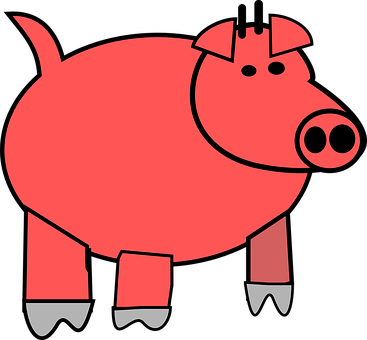 Pig, Pork, Tail, Farm, Swine, Agriculture, Pink