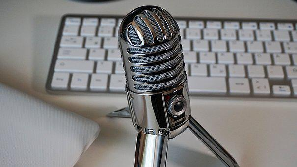 Microphone, Keyboard, Podcast, Condenser Microphone