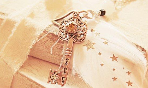 Key, Heart, Feather, Star, Pearl, Love, Symbol, Romance